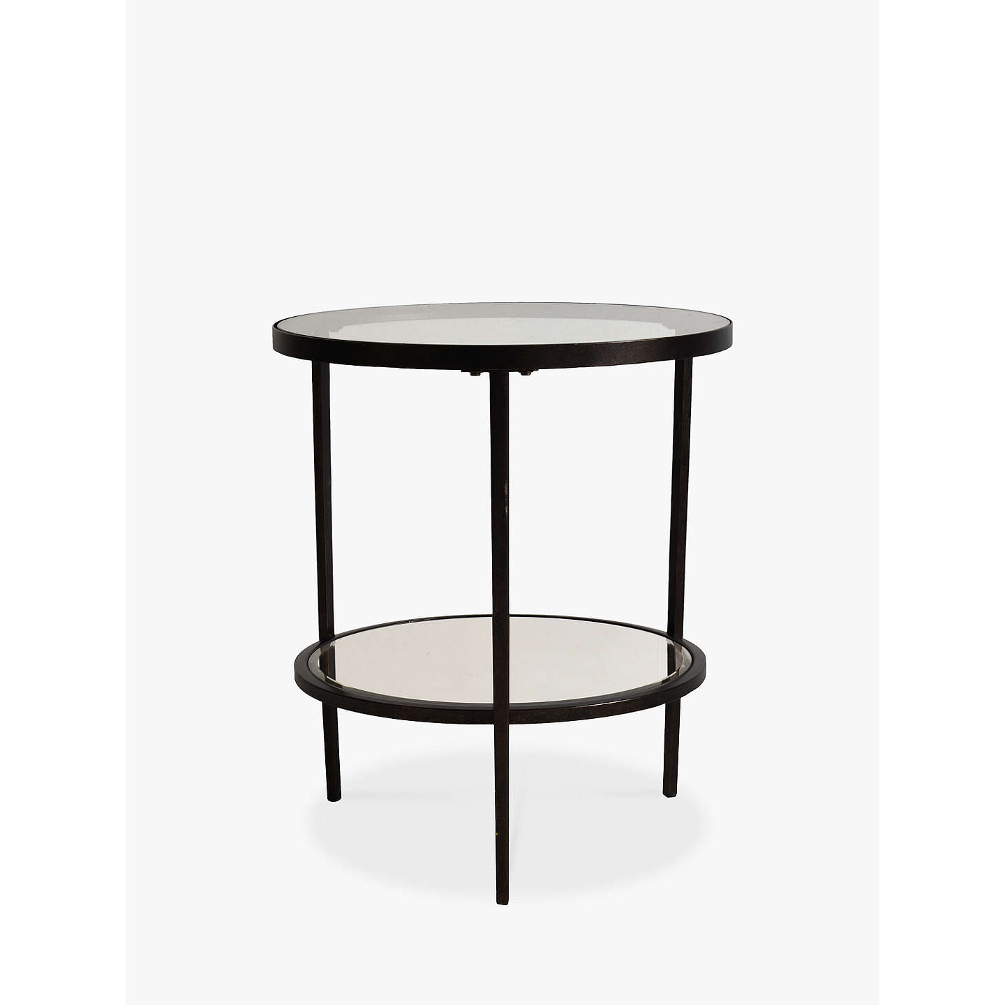 table home round industrial side white and zin product marble lark iron