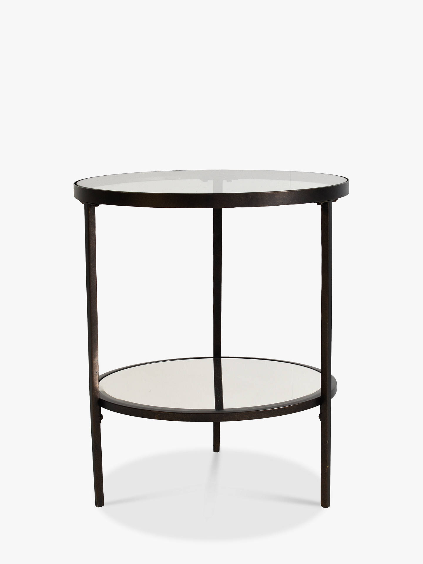 Hudson Living Glass Round Side Table