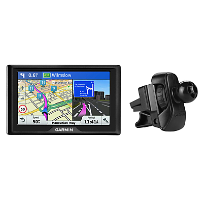 Image of Garmin Drive 51LMT-S Sat Nav with Lifetime Map Updates, Full Europe & Air Vent Mount
