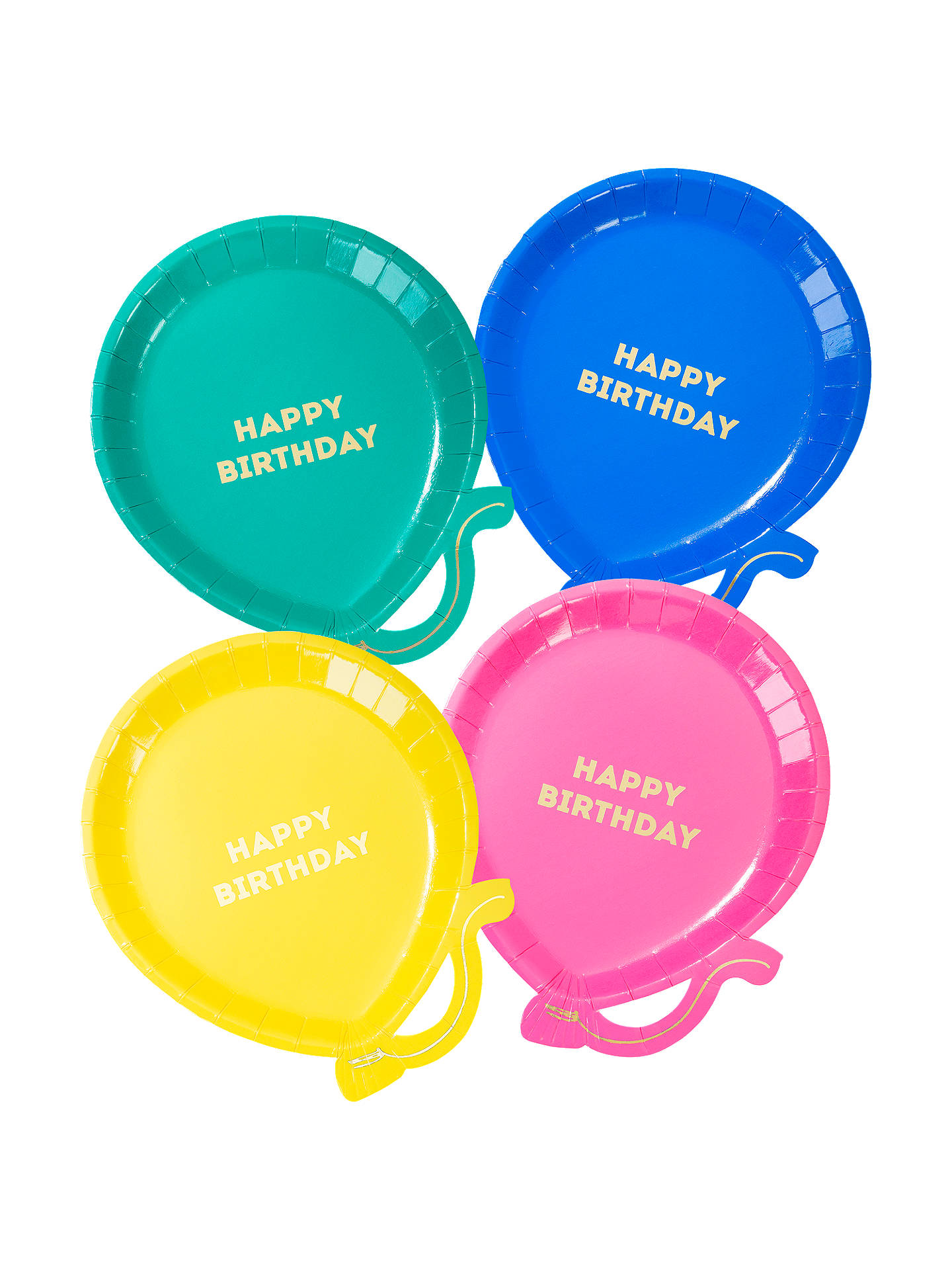 Buy Talking Tables Brights Balloon Plates, Pack of 8 Online at johnlewis.com