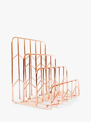 House by John Lewis Letter Rack, Rose Gold
