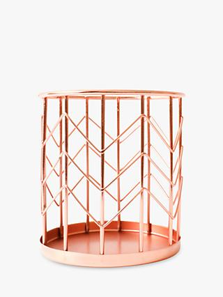 House by John Lewis Pen Pot, Rose Gold