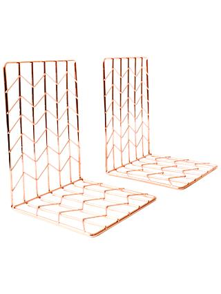 House by John Lewis Bookends, Rose Gold