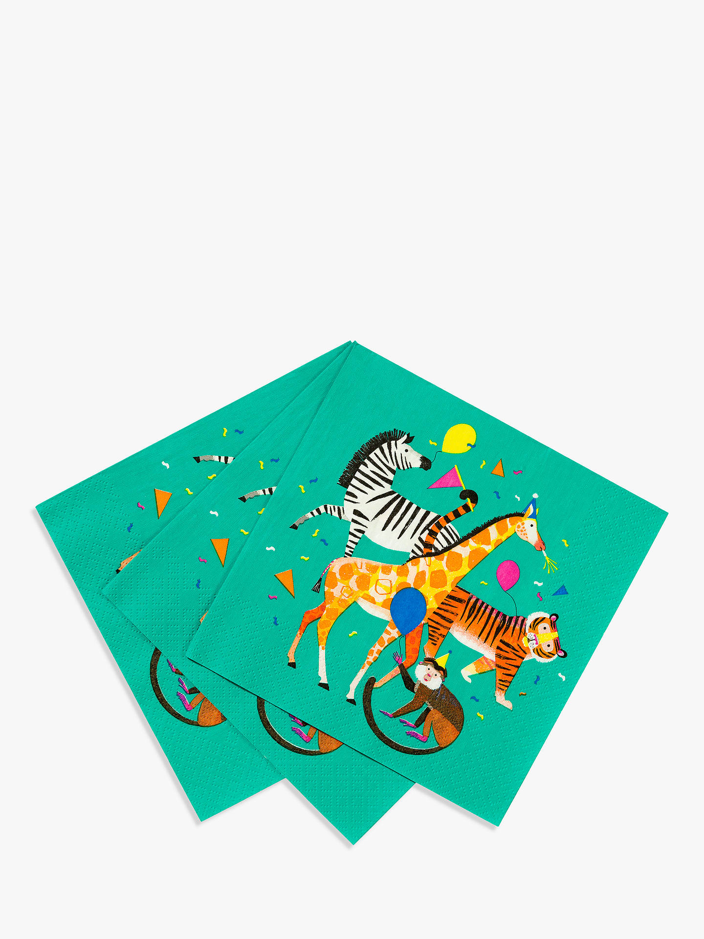 BuyTalking Tables Party Animal Napkins, Pack of 20 Online at johnlewis.com