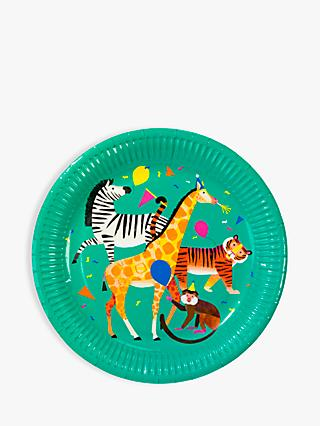 Talking Tables Party Animal Paper Plates, Pack of 8