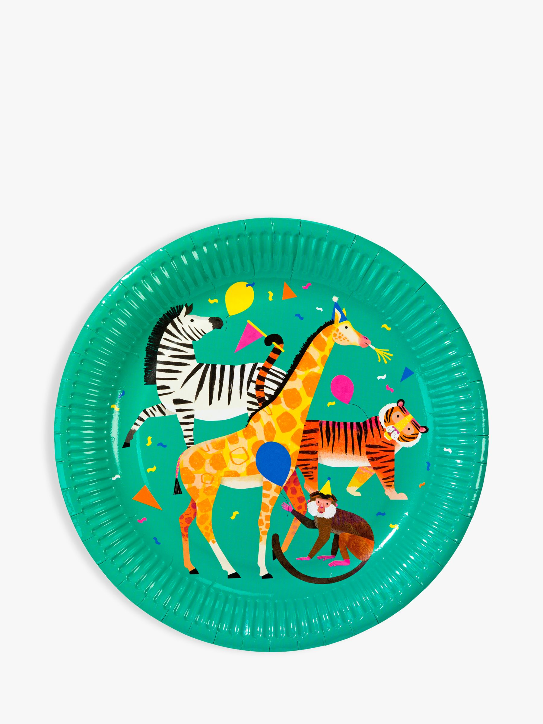 Talking Tables Talking Tables Party Animal Paper Plates, Pack of 8