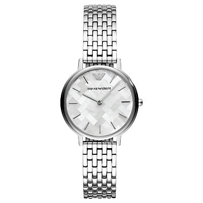 Emporio Armani AR11112 Women's Bracelet Strap Watch, Silver/Multi