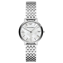 Buy Emporio Armani AR11112 Women's Bracelet Strap Watch, Silver/Multi Online at johnlewis.com