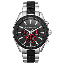 Buy Armani Exchange Men's Chronograph Bracelet Strap Watch Online at johnlewis.com