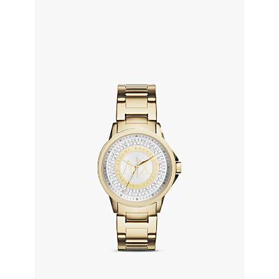 Armani Exchange AX4321 Women's Crystal Bracelet Strap Watch, Gold/Silver