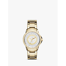 Buy Armani Exchange AX4321 Women's Crystal Bracelet Strap Watch, Gold/Silver Online at johnlewis.com