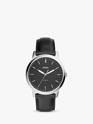 Fossil Men's Minimalist Leather Strap Watch