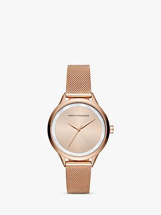 Armani Exchange Women s Mesh Bracelet Strap Watch b3e9aeced7