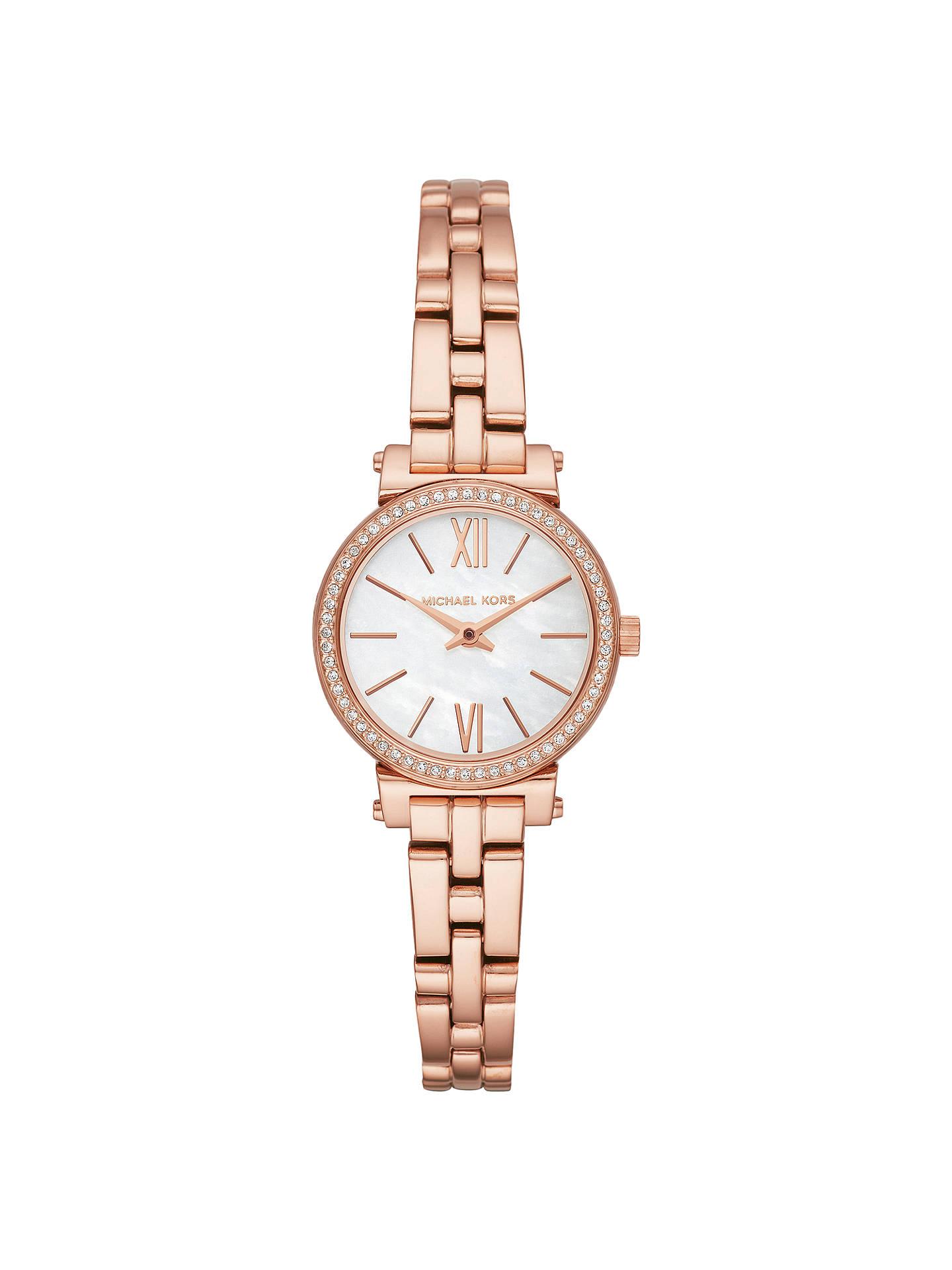 b0edd2c85e Buy Michael Kors MK3834 Women s Petite Sofie Bracelet Strap Watch