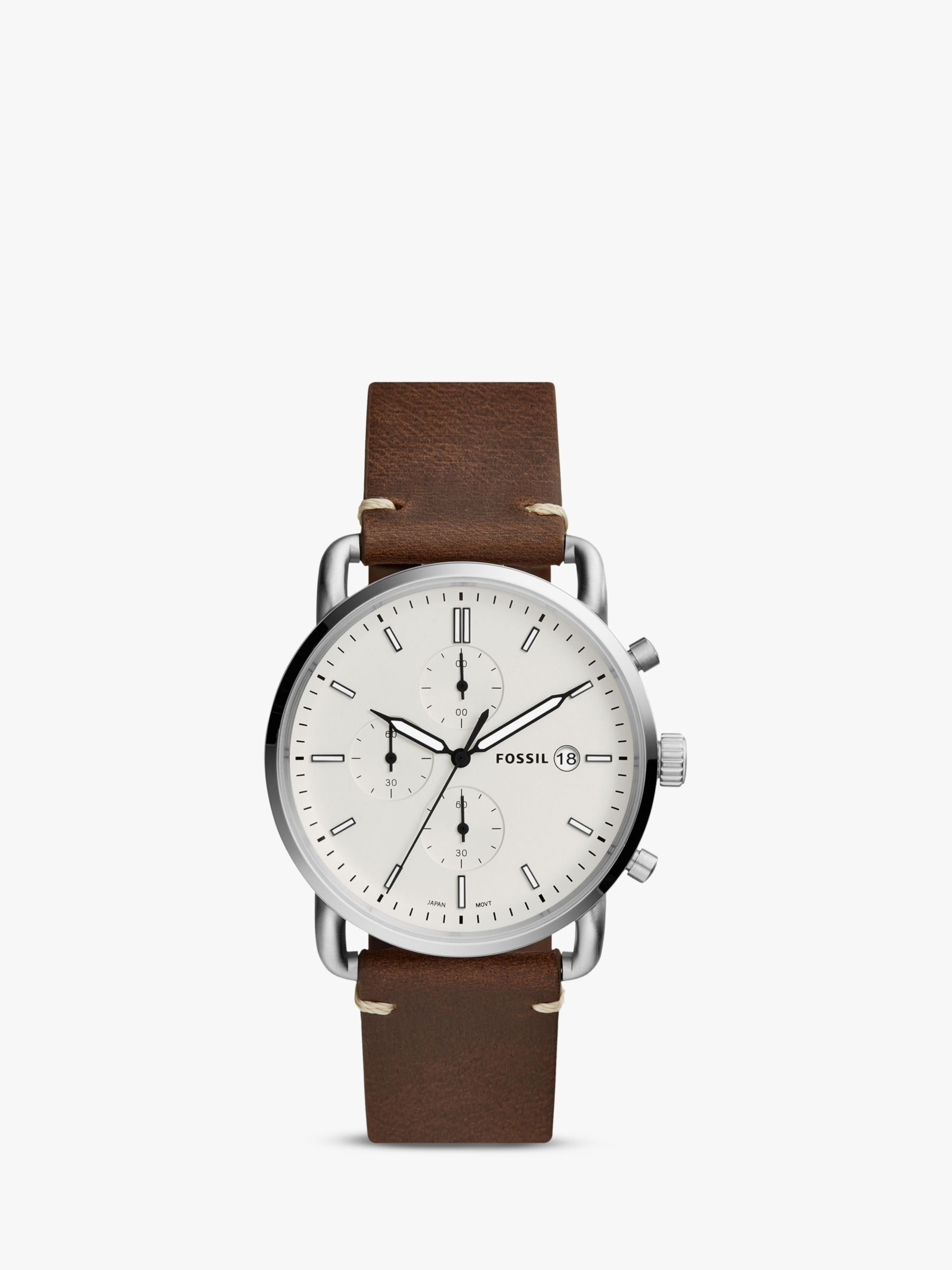 Fossil Fossil Men's Commuter Date Leather Strap Watch