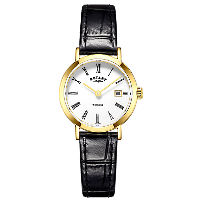 Rotary LB05303/03 Women's Windsor Date Bracelet Strap Watch, Gold