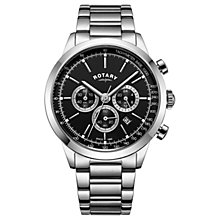Buy Rotary Men's Cambridge Chronograph Date Bracelet Strap Watch Online at johnlewis.com