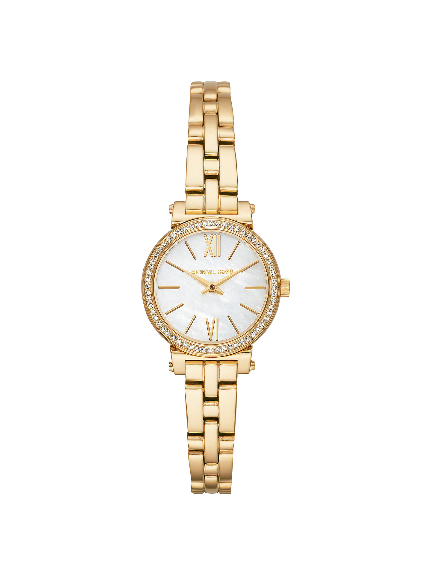 a4f7ebeb8 Buy Michael Kors MK3833 Women's Petite Sofie Bracelet Watch, Gold Online at  johnlewis. ...