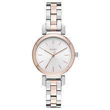 Buy DKNY NY2593 Women's Ellington Bracelet Strap Watch, Rose Gold/Silver Online at johnlewis.com