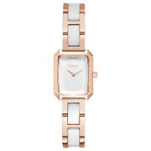 Buy DKNY NY2671 Women's The Modernist  Bracelet Strap Watch, Gold/White Online at johnlewis.com