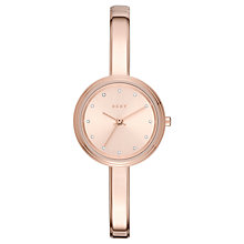 Buy DKNY NY2600 Women's Murray Crystal Bracelet Strap Watch, Rose Gold Online at johnlewis.com