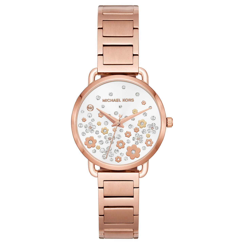 Michael Kors Mk3841 Women S Mini Portia Bracelet Strap Watch Rose Gold Online At Johnlewis