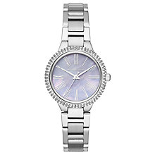 Buy Michael Kors MK6562 Women's Mini Tary Bracelet Strap Watch, Silver/Mother of Pearl Online at johnlewis.com