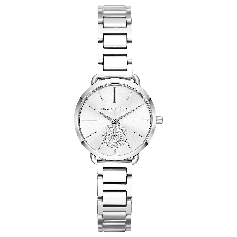 Michael Kors Women S Mini Portia Bracelet Strap Watch Silver Online At Johnlewis