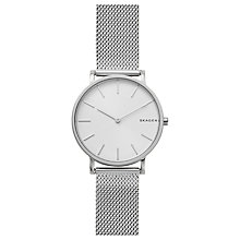Buy Skagen SKW6442 Men's Hagen Mesh Bracelet Strap Watch, Silver/White Online at johnlewis.com