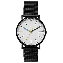 Buy Skagen SKW6376 Men's Signatur Bracelet Strap Watch, Black Online at johnlewis.com