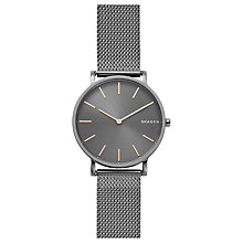 Buy Skagen SKW6445 Men's Hagen Slim Mesh Bracelet Strap Watch, Silver/Grey Online at johnlewis.com