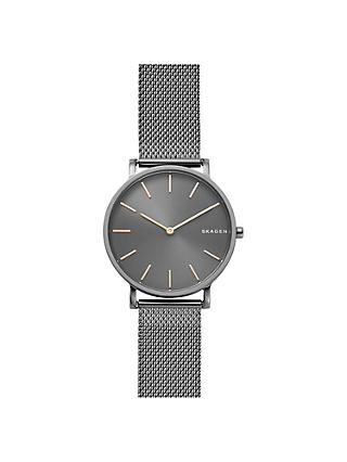 Skagen SKW6445 Men's Hagen Slim Mesh Bracelet Strap Watch, Silver/Grey