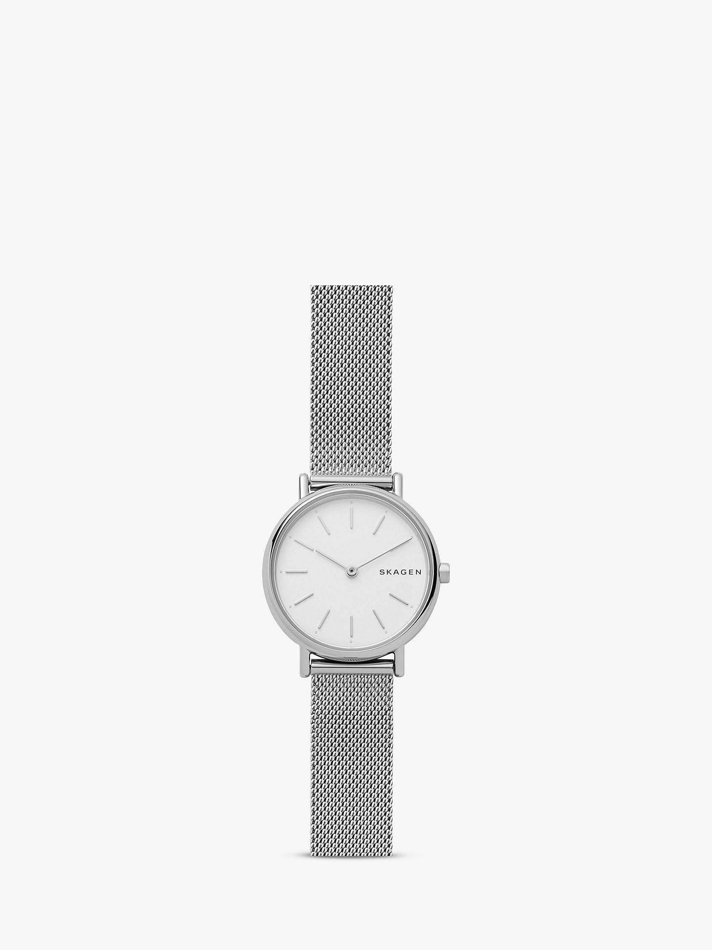 ef410a07ca0 Skagen Women s Signatur Mesh Bracelet Strap Watch at John Lewis ...
