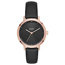 Buy DKNY Women's Modernist Leather Strap Watch Online at johnlewis.com