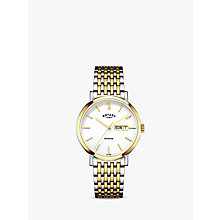 Buy Rotary Men's Windsor Day Date Bracelet Strap Watch Online at johnlewis.com