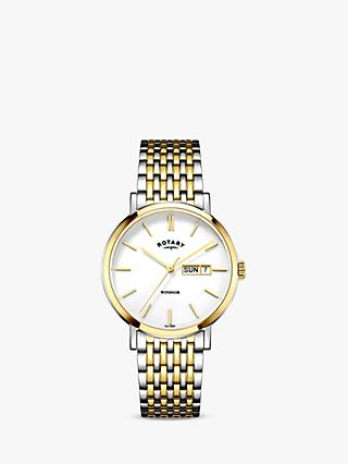 Rotary Men's Windsor Day Date Bracelet Strap Watch