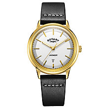 Buy Rotary Men's Avenger Date Leather Strap Watch Online at johnlewis.com