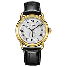 Buy Rotary Men's Canterbury Leather Strap Watch Online at johnlewis.com