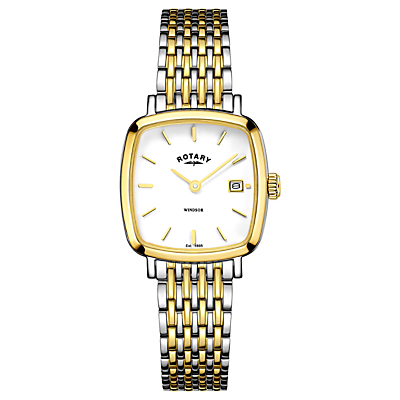 Rotary Women's Windsor Date Square Bracelet Strap Watch