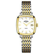 Buy Rotary Women's Windsor Date Square Bracelet Strap Watch Online at johnlewis.com