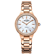 Buy Rotary Women's Kensington Pave Set Bracelet Strap Watch Online at johnlewis.com