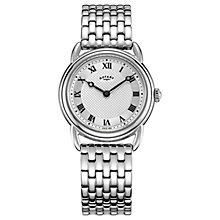 Buy Rotary LB05335/21 Women's Canterbury Bracelet Strap Watch, Silver Online at johnlewis.com