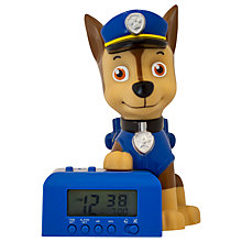 Buy Paw Patrol Chase Night Light Alarm Clock Online at johnlewis.com
