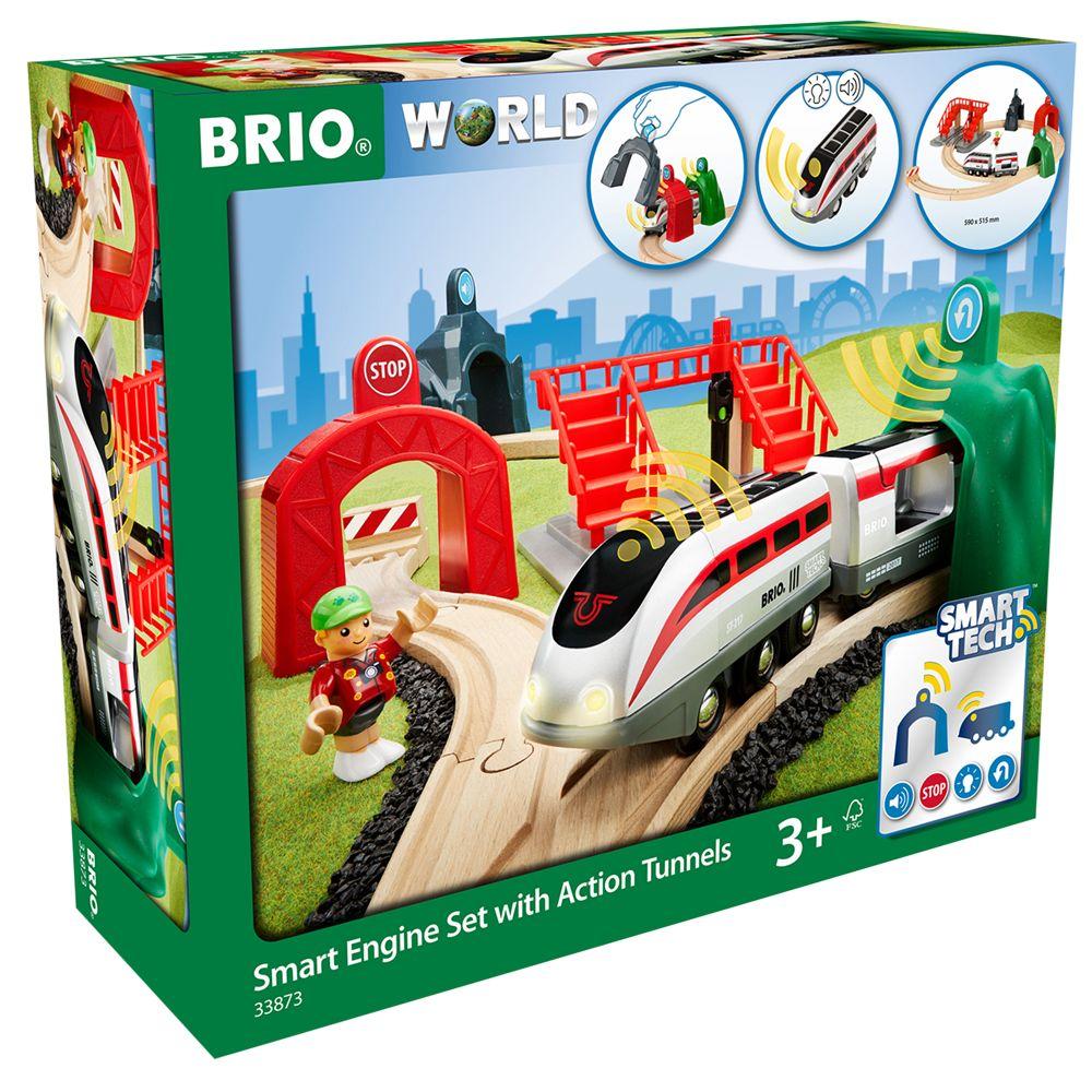 BRIO BRIO World Smart Tech Railway Engine Set with Action Tunnels