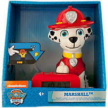 Buy Paw Patrol Marshall Night Light Alarm Clock Online at johnlewis.com