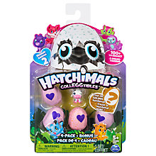 Buy Hatchimals Season 2 CollEGGtibles, Pack of 4 & Bonus Figure Online at johnlewis.com