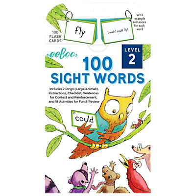Image of Eeboo Sight Words Level 2 Flash Cards