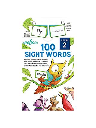 Eeboo Sight Words Level 2 Flash Cards