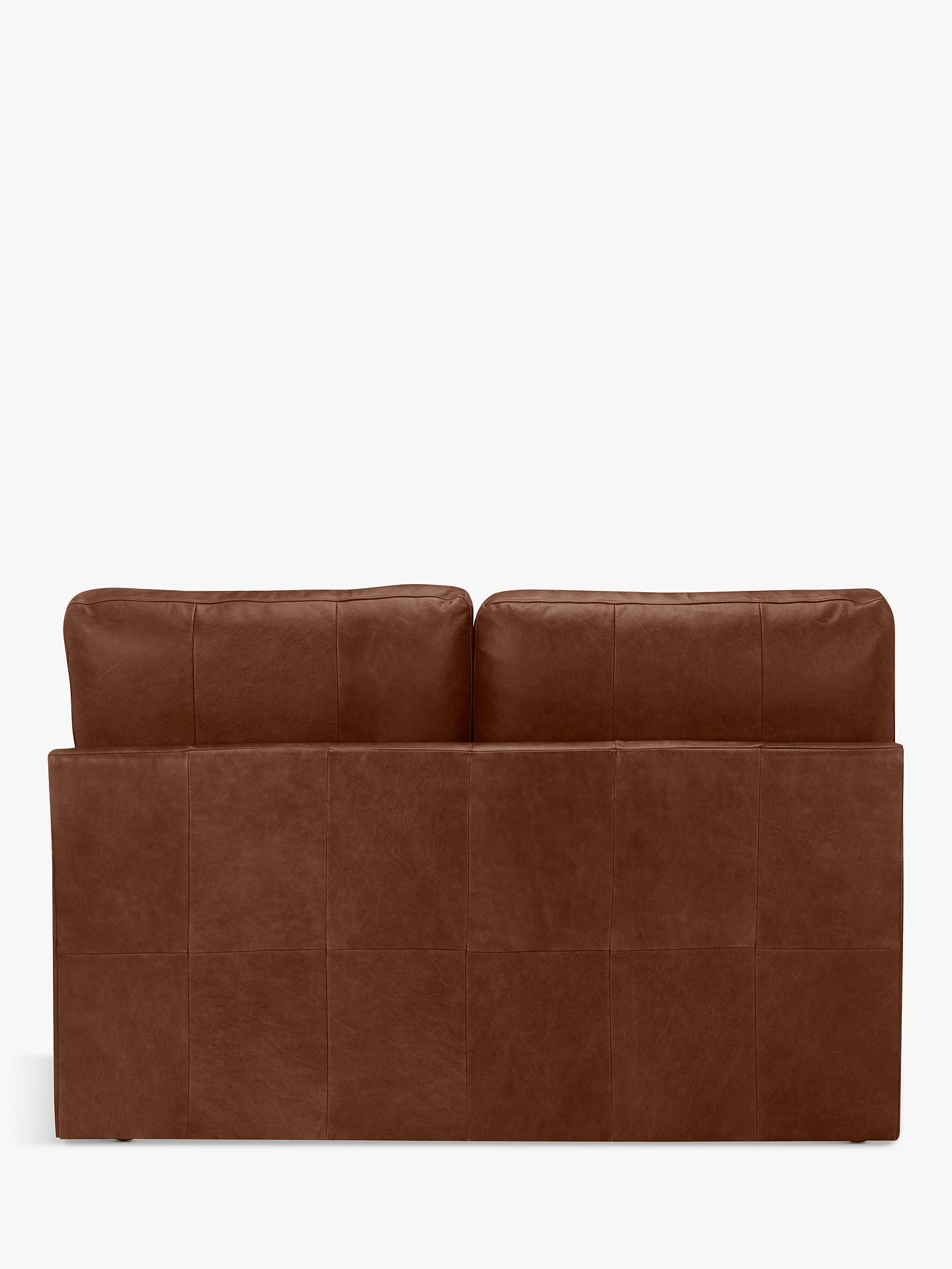 Buy House by John Lewis Oliver Small 2 Seater Armless Leather Sofa, Dark Leg, Contempo Castanga Online at johnlewis.com