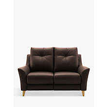 Buy G Plan Hirst Small 2 Seater Leather Sofa Online at johnlewis.com